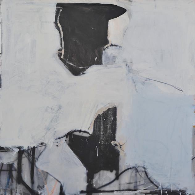 huile sur toile 80 x 80 cm janvier 2019