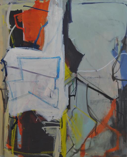 huile et pastels gras sur toile 60 x 73 cm 2019