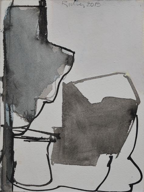 encre et gouache sur papier 15 x 20 cm mai 2019