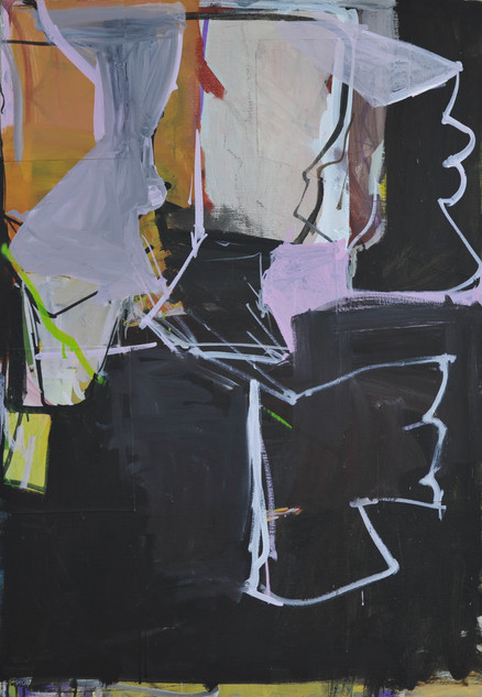 acrylique et collages sur toile 81 x 116 cm mars 2019