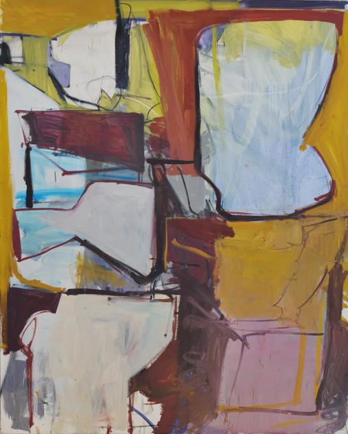 huile et pastels gras sur toile 130 x 162 cm  2019