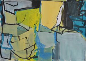 Gouache et crayon de couleur sur papier 29 x 41 cm  2018