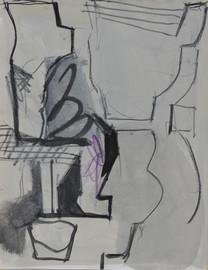 Gouache et crayons de couleur  16,5 x 21 cm  2018