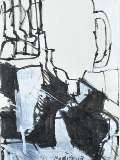 Feutre et gouache sur papier  8,5 x 11,5 cm   2017