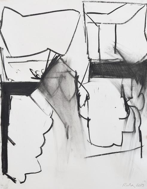fusain sur papier 50 x 65 cm janvier 2019