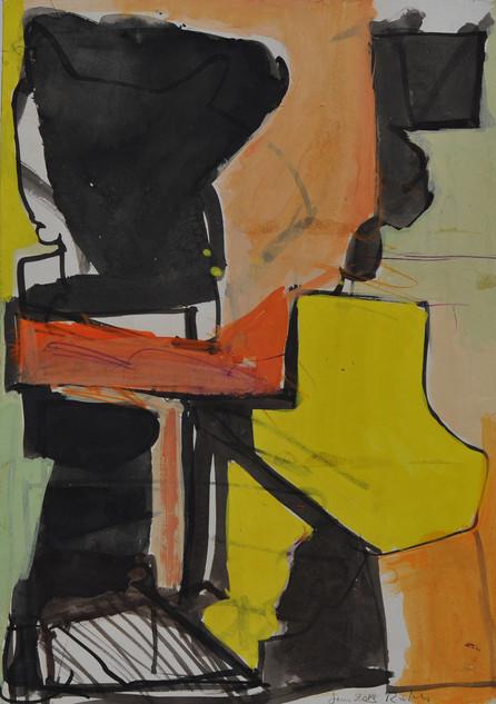 gouache et encre de chine sur papier 30 x 42 cm juin 2019