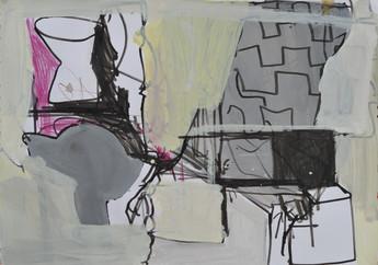 Gouache feutre et crayon de couleur sur papier 21 x 30 cm  2018