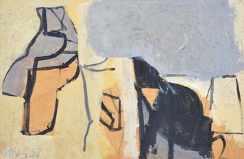 Gouache sur papier  22 x 15 cm  1998
