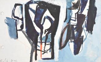 Gouache sur papier  13,5 x 21 cm  1995  Collection privée