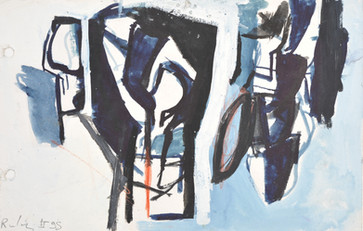 Gouache sur papier  13,5 x 21 cm  1995  Collection privée