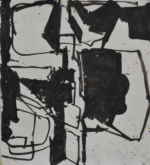 encre de chine sur papier 14,5 x 16 cm janvier 2019