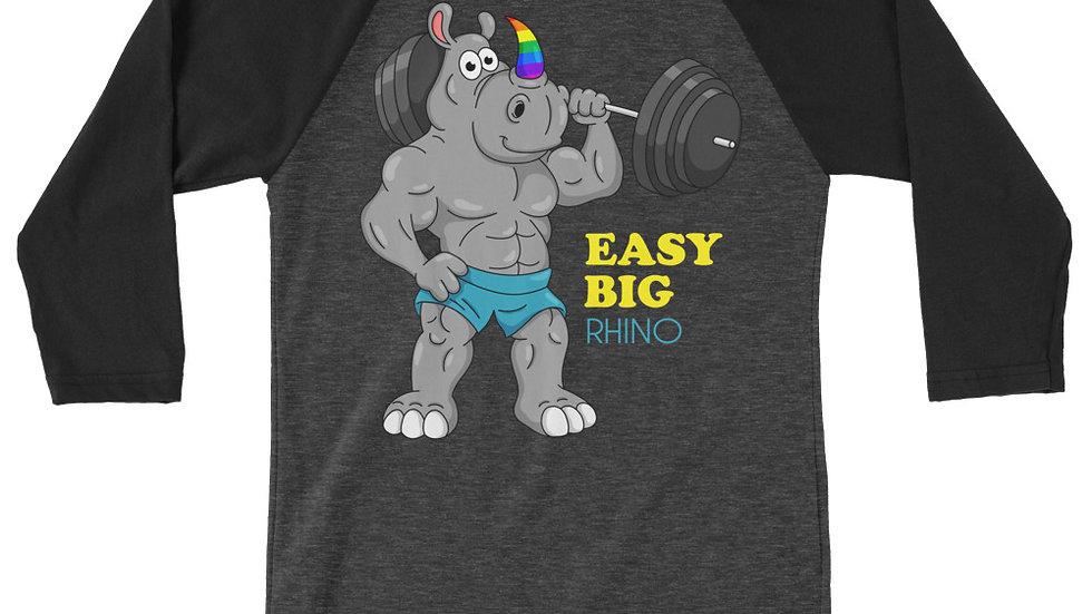 EASY BIG RHINO - 3/4 sleeve baseball shirt