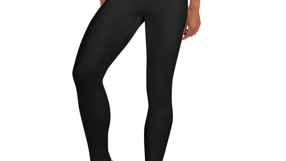 JET BLACK HEART - leggings