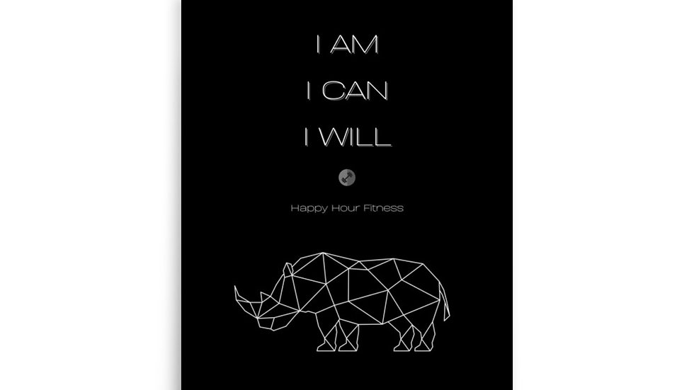 I AM I CAN I WILL - wall poster