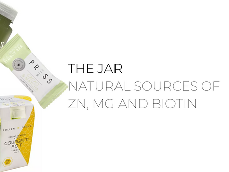 Zn, Mg, Biotin - your natural sources from The Jar - Healthy Vending Machines