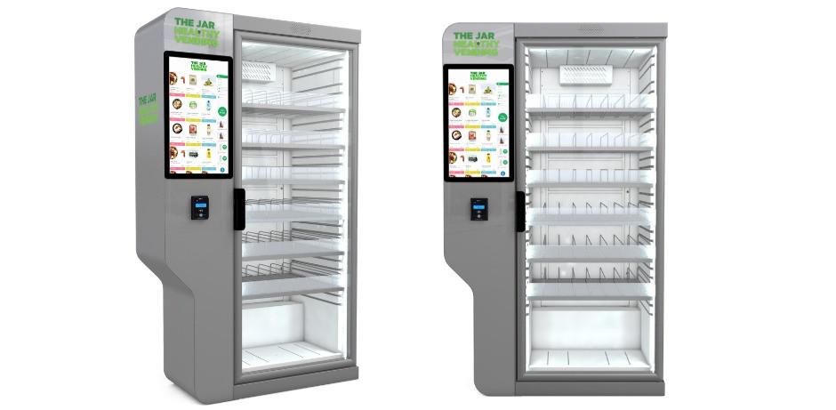 Smart vending fridges in London, UK