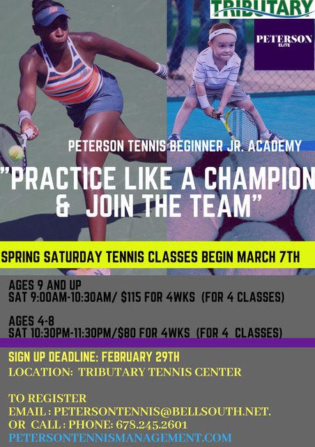 Spring Saturday Beginner Jr. Peterson Te