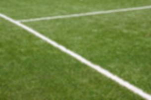 Tennis court with an artificial green gr