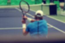 Tennis players playing a match and blurr