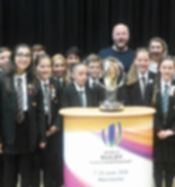 Cast, audience and U20's Rugby World Cup