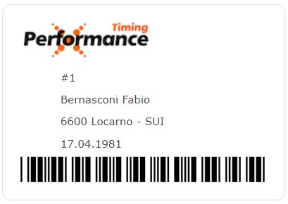 Performance ID Card