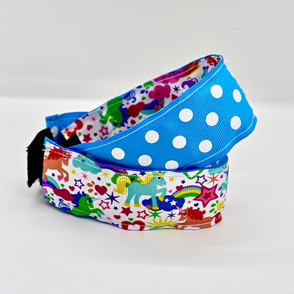 Blue Polka Dot & Doodle Cuffstrap