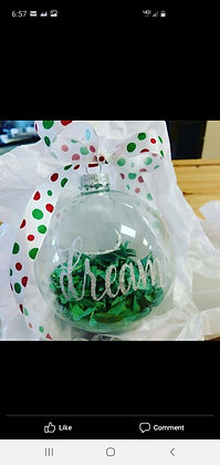 Dream Ornament with WCHS Green Shavings