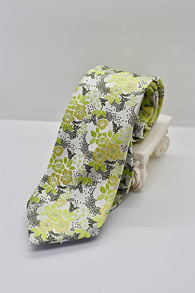 Green Floral Tie