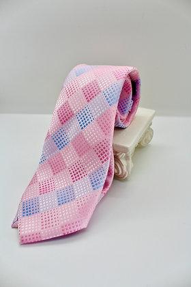 Pink & Blue Checkered Tie