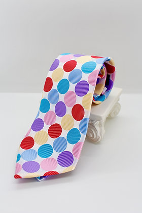 Multi Colored Polka Dot Tie
