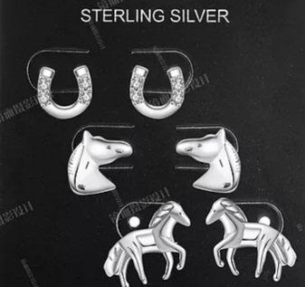 Horses Earring Set of 3