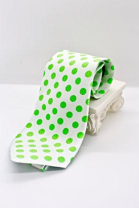 Lime Green Polka Dot Tie