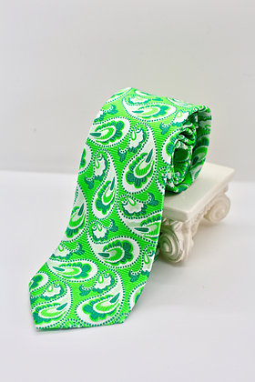 Lime Green Paisley Tie