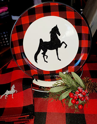 "Buffalo Check 10.5"" Ceramic Plate"