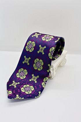 Purple & Green Patterned Tie