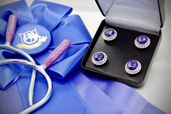 Purple Back Number Magnets