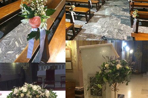 Paquete Iglesia Bancos + Altar