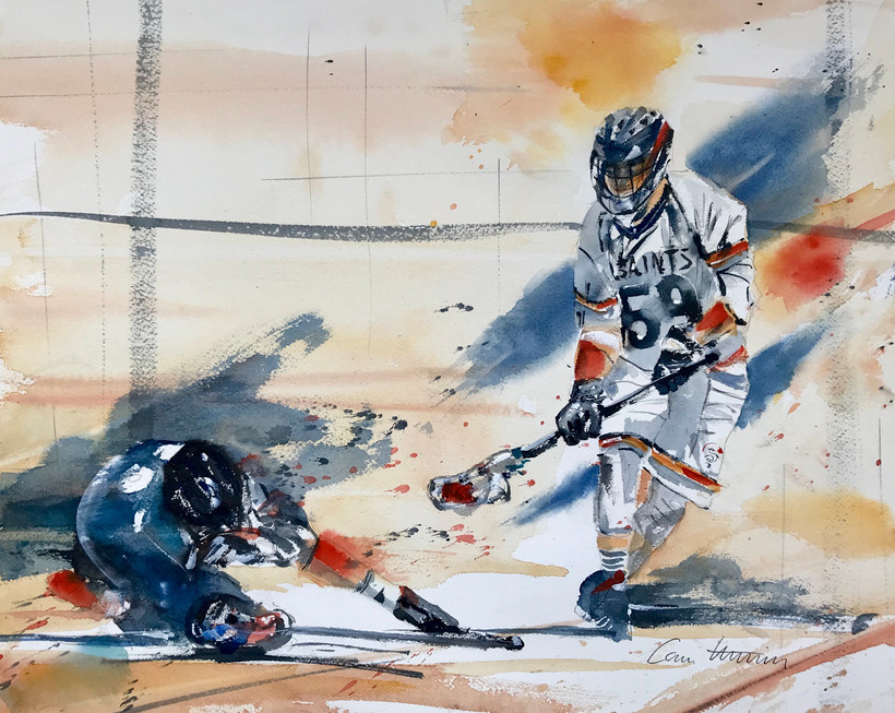 Lacrosse-Duell