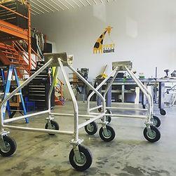aluminum mast cart welding