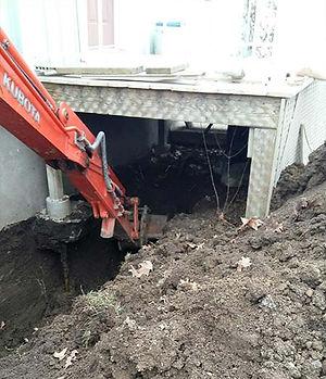 excavation drain maison