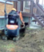 excavation drain de fondation