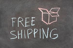 Text ___free shipping__Ã_Â� and box draw