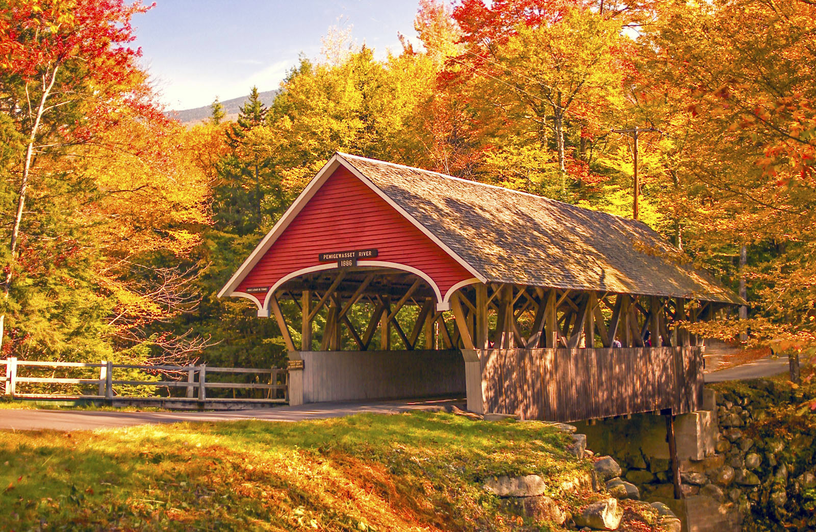 Covered Bridge Franconia Notch