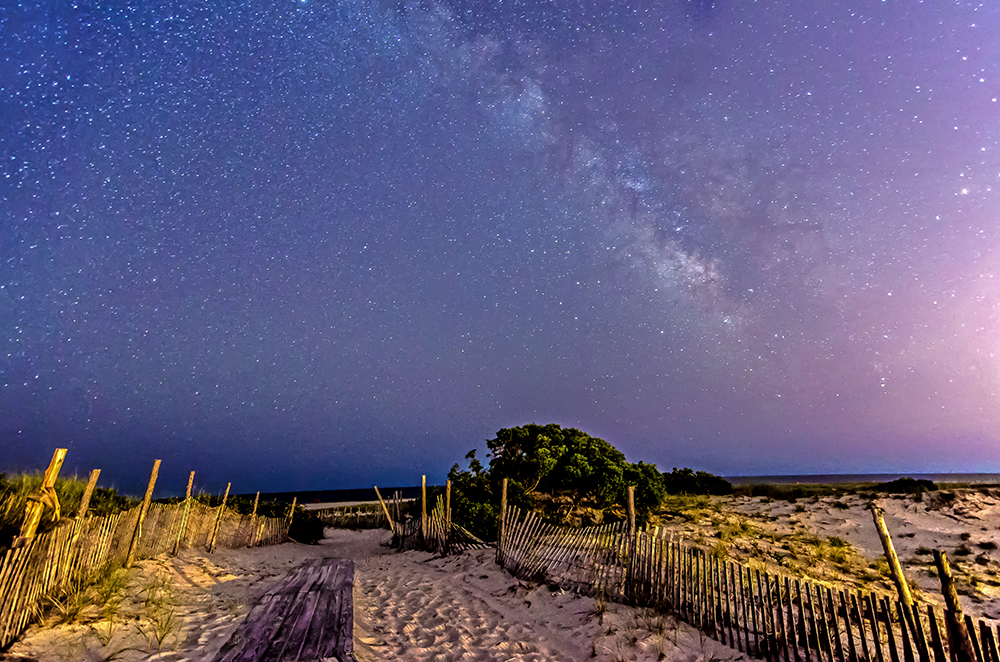 milky way over Barnegat Light