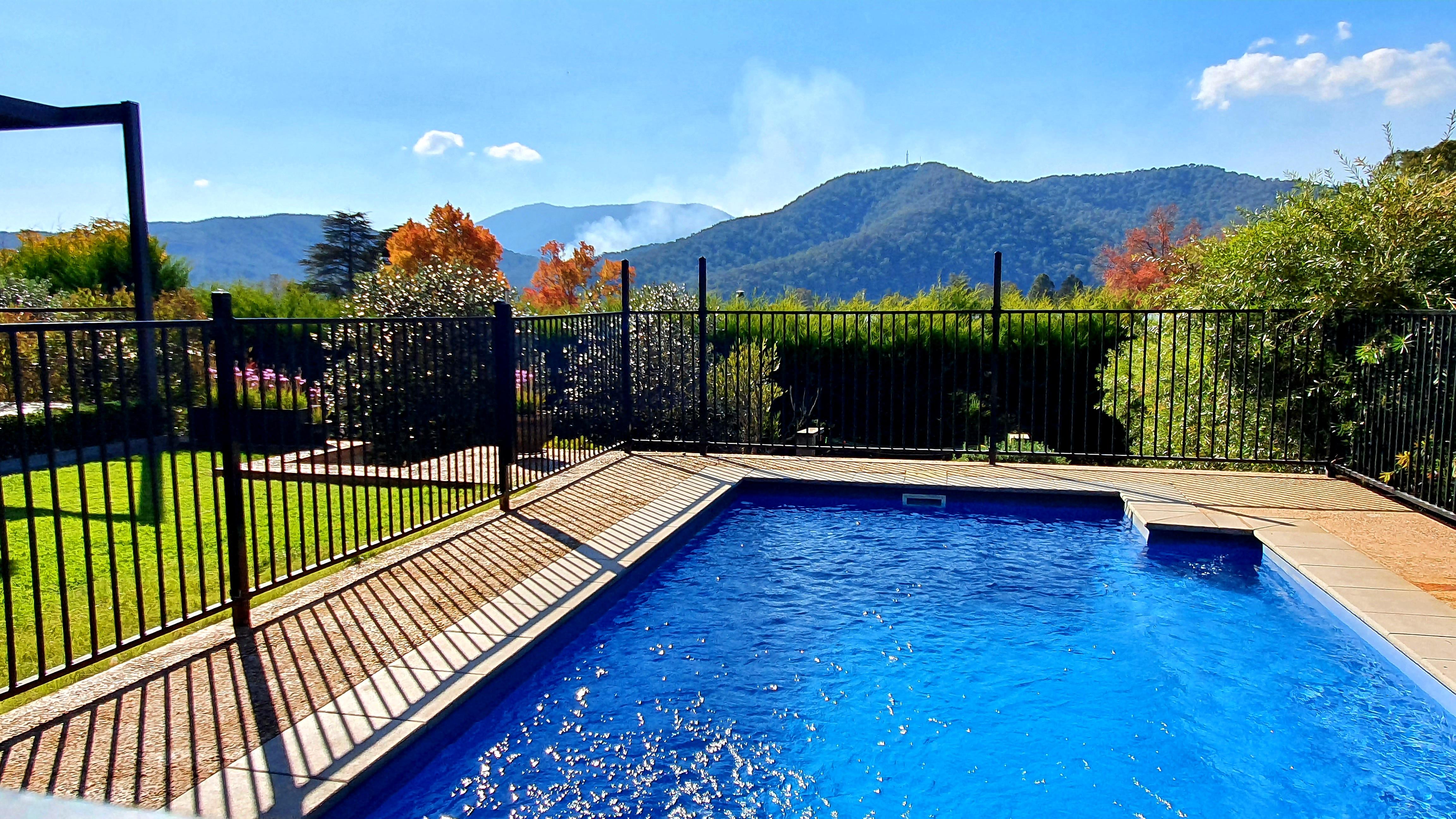 2021 autumn pool view
