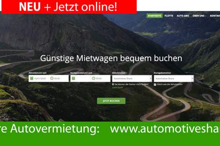 Die Webseite für unsere Autovermietung ist online!