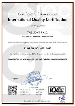 TAGLIGHT ISO14001 EN