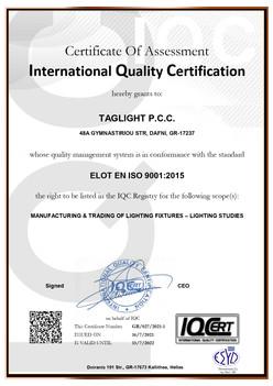 TAGLIGHT ISO9001 EN