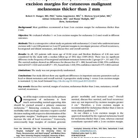Neue wissenschaftliche Erkenntnisse bzgl. Melanome in Zusammenarbeit von Dr. Shafighi & Dermatologie