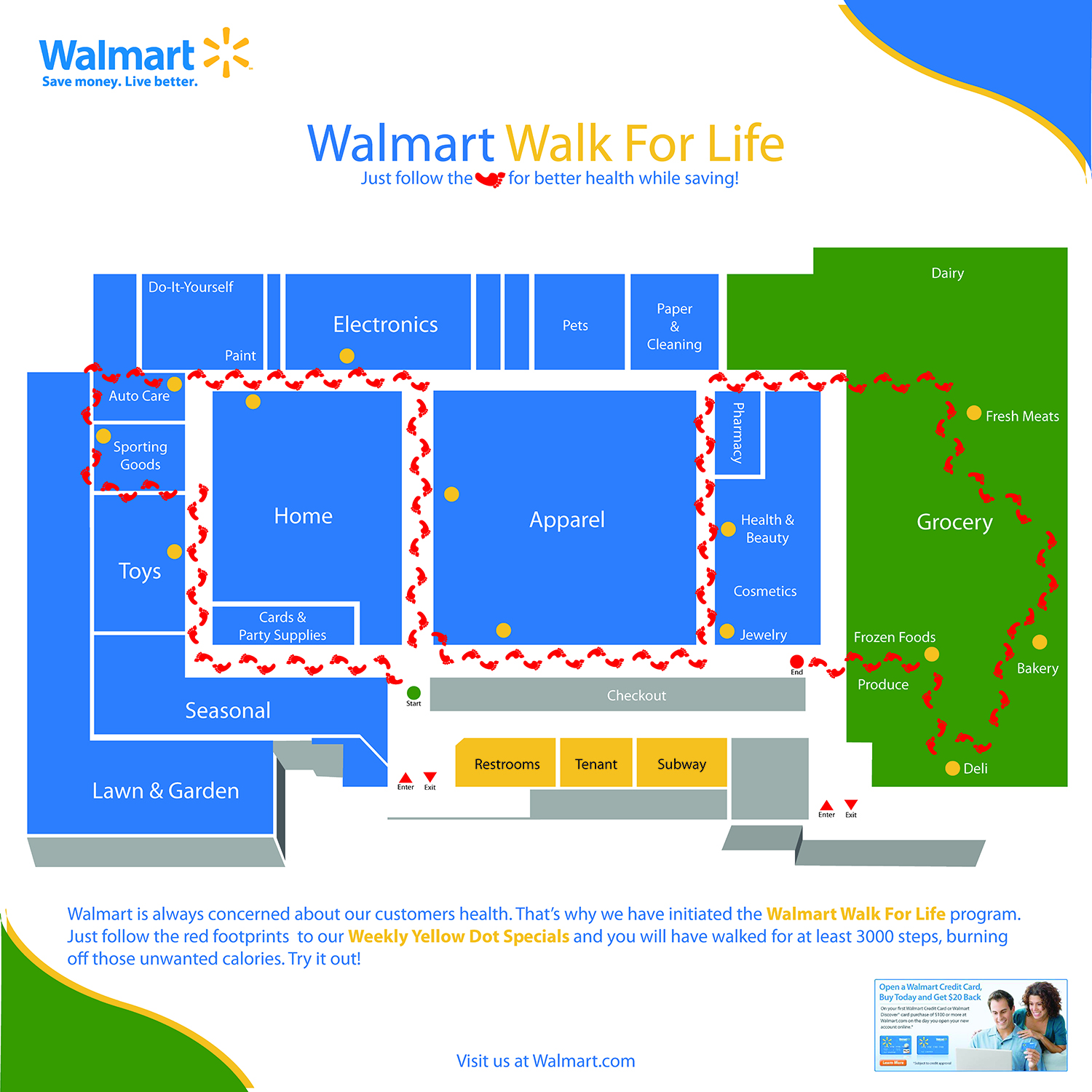 Walmart Walk For Life Map Sample